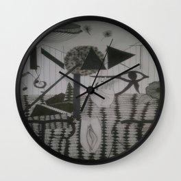 In art I trust Wall Clock