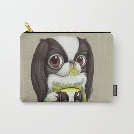 Japanese Chin Sips Matcha Latte Carry-All Pouch
