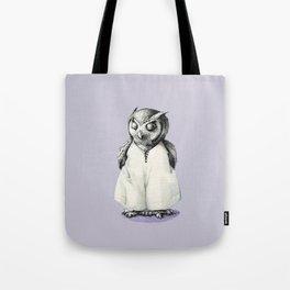 Miss Owl in Jumpsuit Tote Bag