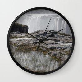 Selfoss waterfall in Iceland - nature landscape Wall Clock