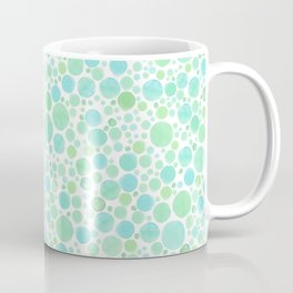 Abstract Beach Bubbles Watercolor Coffee Mug