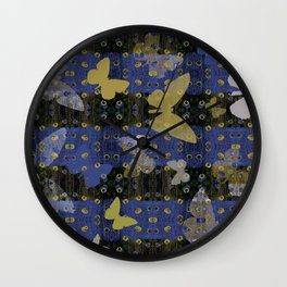 papillons Wall Clock