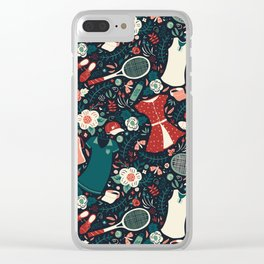 Tennis Style Clear iPhone Case