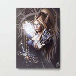 Elven Summoner Metal Print