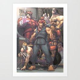 Street Fighter - Villains Art Print
