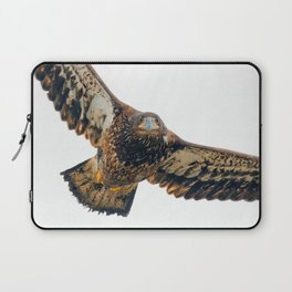 Young Bald Eagle in Breathtaking Flyby Laptop Sleeve