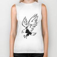 eagle Biker Tanks featuring Eagle  by ArtSchool