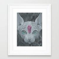 "sphynx Framed Art Prints featuring ""Sphynx"" by Edward Cao"