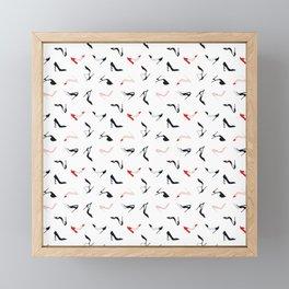 My Fashion Shoes - White Framed Mini Art Print