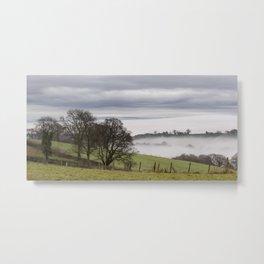 Misty Panorama Metal Print