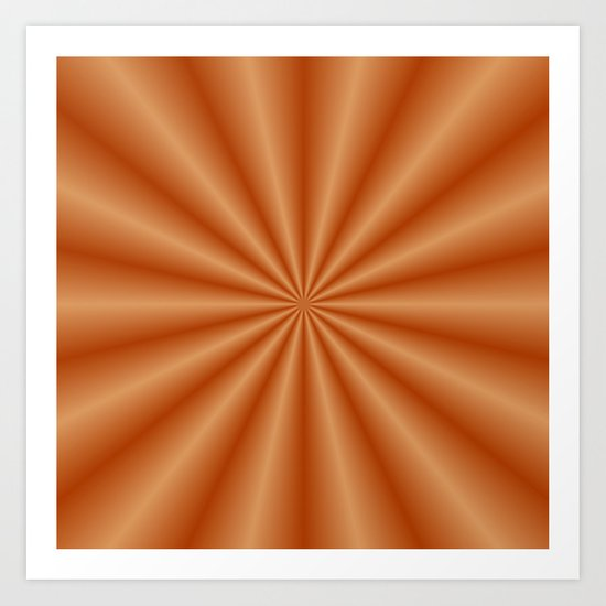 Orange Pleats Art Print