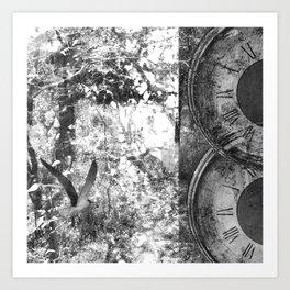 As Time Flies it Dissolves  Art Print