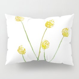 Yellow Billy Button Flowers Pillow Sham