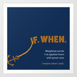 Weighted Words Art Print