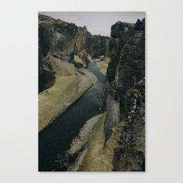 Fjadrargljufur Canyon in Iceland Canvas Print