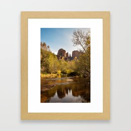 Red Rock Reflections Framed Art Print