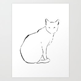 Cat 15 Art Print