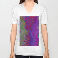 vertigo V-neck T-shirts featuring Vertigo by RingWaveArt