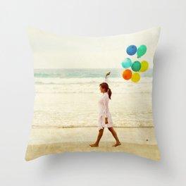 Colorful Stillness Throw Pillow