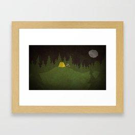 Camping Scene Framed Art Print