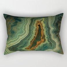 The world of gems - green agate Rectangular Pillow