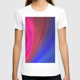 Fractal Art Waves of Elegant Color Design T-shirt