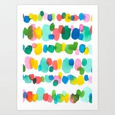 Paradise Dots Art Print