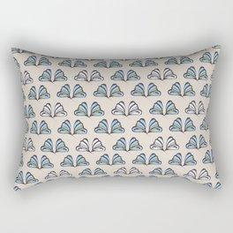 Madam Butterfly Print Rectangular Pillow