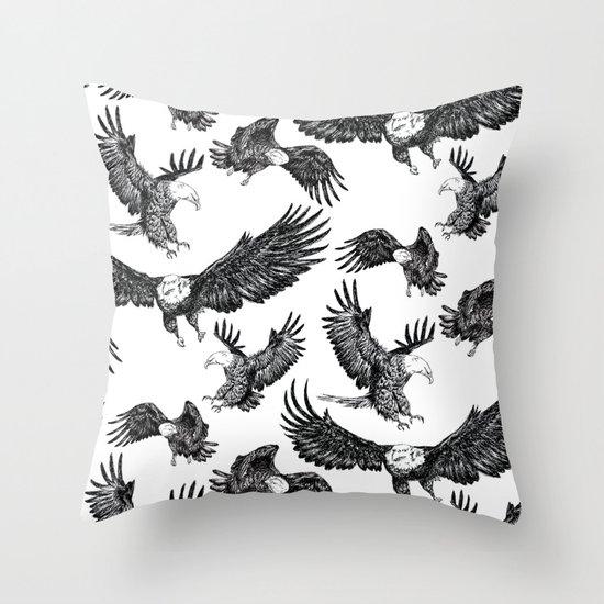 Eagles Pattern Throw Pillow