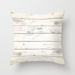 Light Natural Wood Texture Throw Pillow