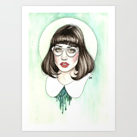 Portrait of Amy Roiland  Art Print