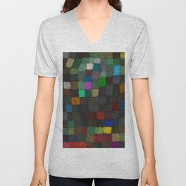 Spring Colors of May, Geometric Color Theory Painter's Palette portrait painting by Paul Klee Unisex V-Neck