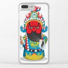 Beijing Opera Character GuanYu Clear iPhone Case