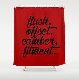 flush offset camber fitment v3 HQvector Shower Curtain