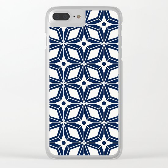 Starburst - Navy Clear iPhone Case