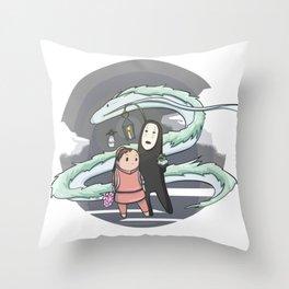 Chihiro (Spirited Away) Throw Pillow