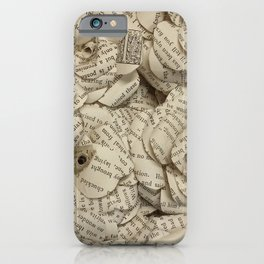 Book Page Flower Roses iPhone Case