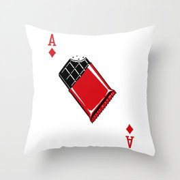 Delicious Deck: The Ace of Diamonds Throw Pillow