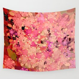 Two Different Worlds -- Floral Pattern Wall Tapestry