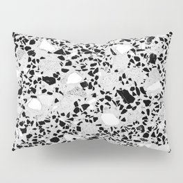 Real Terrazzo Stone Marble Concrete Mix Pattern Pillow Sham
