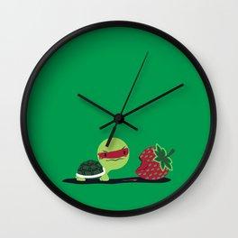 Strawberry Turtle Wall Clock