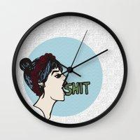 shit Wall Clocks featuring Shit by Gaab D'Amato