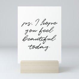 Beauty Quote Mini Art Print