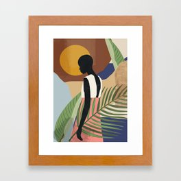 Tropical Girl 2 Framed Art Print