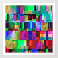 glitch Art Prints featuring GLITCH by C O R N E L L
