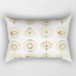 Evil Eyes – Gold Palette Rectangular Pillow