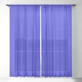 Blue Test 4 Sheer Curtain