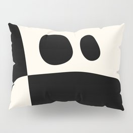shapes black white minimal abstract art Pillow Sham