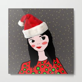 Christmas with you | Kids Painting | Only Love by Elisavet Metal Print
