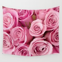 oil Wall Tapestries featuring Oil Roses by Crazy Cool Animals